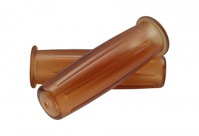 Rindow Tarugata Retro PVC Grips - Translucent Brown