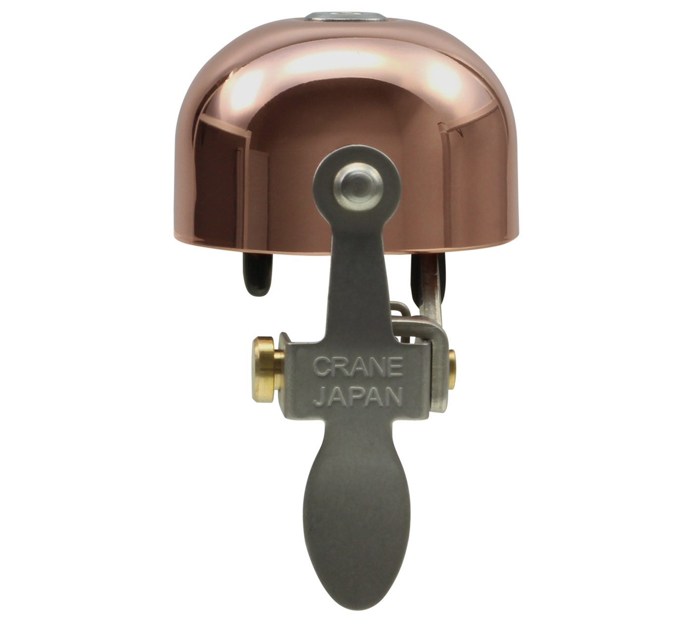 Copper Crane Bell E-Ne Brass Bicycle Bell with Clamp Band Mount